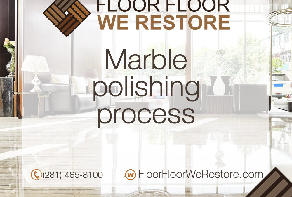 Marble polishing process
