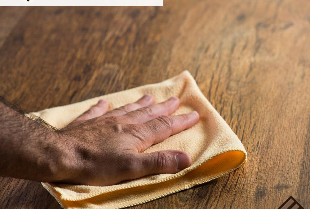How do I clean my wood floors with vinegar?