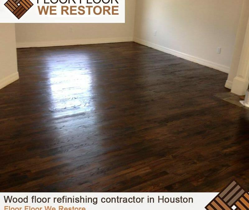 Wood floor refinishing contractor in Houston