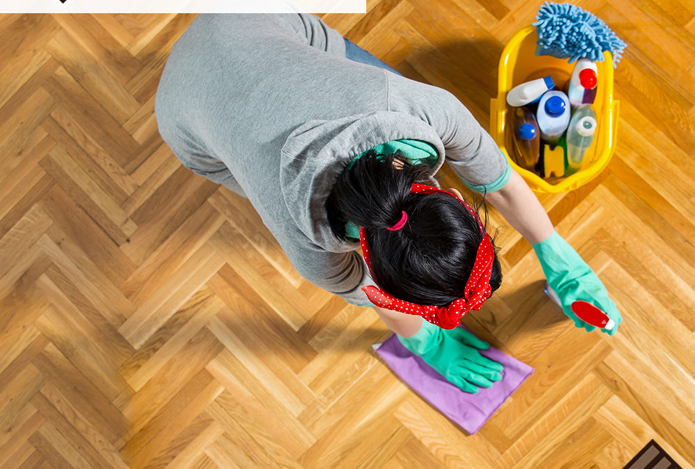 Cleaning Hardwood with a Modern Surface Seal
