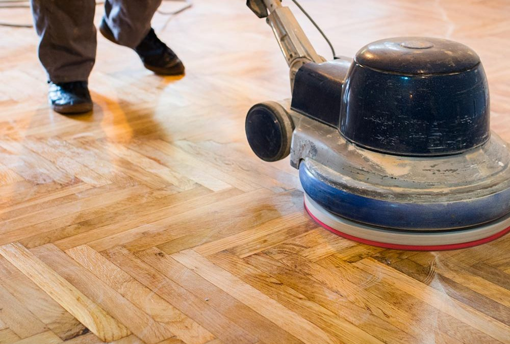 Full Dustless Hardwood Floors Refinishing Through Sand Down and Re-stain: Step-By-Step