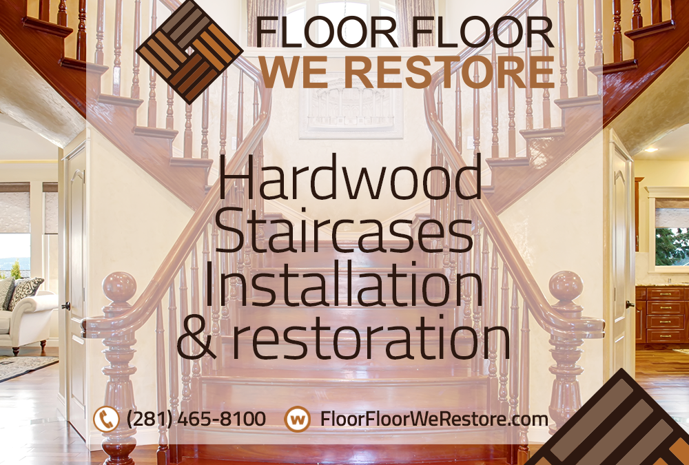 Hardwood staircases installation and restoration